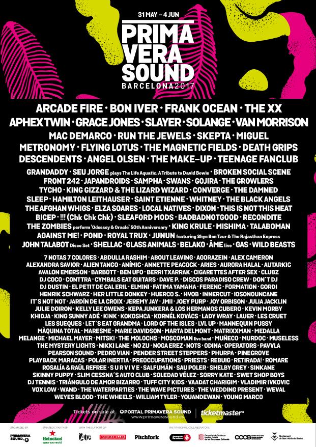 primavera sound festival 2017 lineup