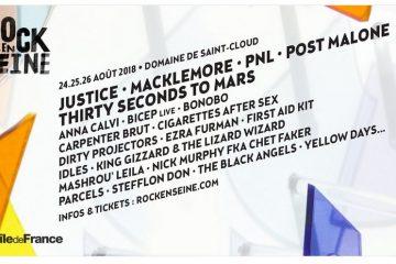 festival rock en seine 2018 programmation affiche