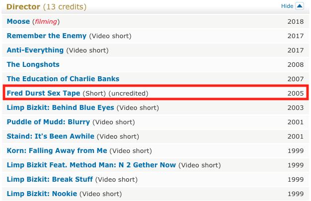 filmographie fred durst limp bizkit sur imdb